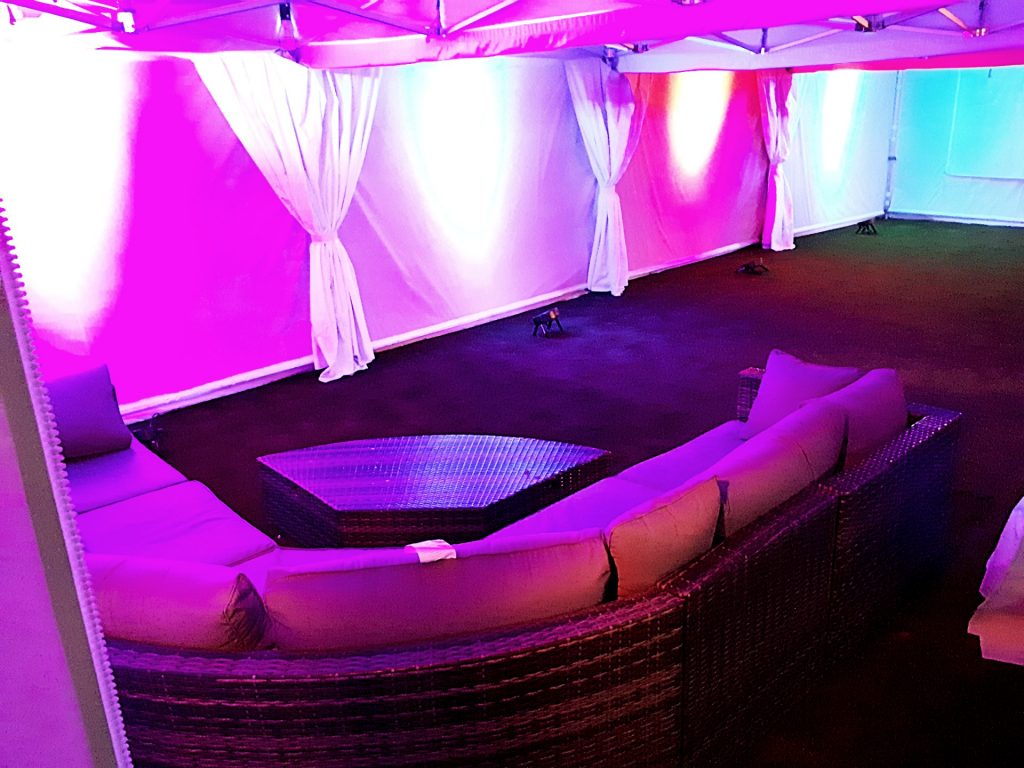 4.5m 12m beautiful marquee with uplights.